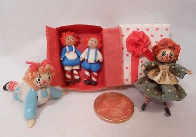 Various Artisan Raggedy Ann Andy Dollhouse Miniature Toys Dolls Figures