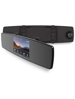 YI Mirror Dash Cam, Dual Dashboard Camera Recorder with Touch Screen, Front R...