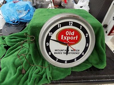 Rare Vintage Metal Old Export Light Beer Clock Cumberland Brewing Co Synchron Mo