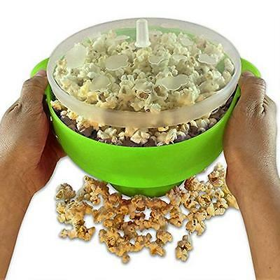 Colonel Popper Microwave Popcorn Popper Maker Silicone Hot Air Bowl BS