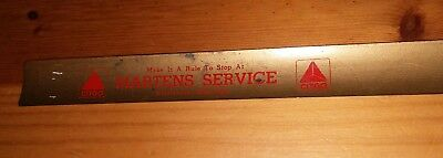 "Martens Service Citgo gas station  18"" Compact Roll Up Ruler Platteville WI"