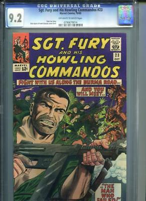 Sgt. Fury & His Howling Commandos #23 CGC 9.2 OW/White Stan Lee Dick Ayers