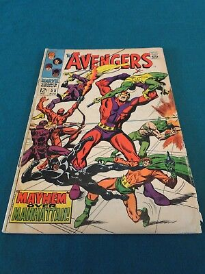 Marvel Comics Group - The Avengers #55 First Full Appearance Ultron! Nice Copy!