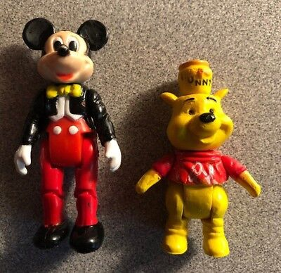 Mickey Mouse and Winnie the Pooh Jointed Figures