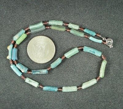 Ancient Roman Glass Beads 1 Medium Strand 100 -200 Bc 0976