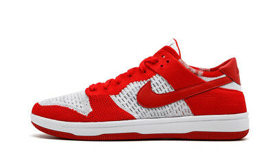 buy online 2dafe 15924 Nike Dunk Low Flyknit Men s (Size 11) Red White Grey 917746-600