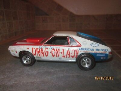 Vintage 1 25 Model 1969 Amc Amx Jo Han Dragon Lady Near Pro Junyard Lot