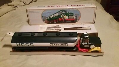 1984 Hess Tanker Truck Bank With Box And Inserts