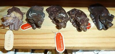 Vintage Chinese Hand Carved Soapstone Water Buffalo Lot of 5 Lot #1