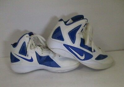 low priced f823c 34e4b NIKE Zoom Hyperfuse  454146-103 White Blue Basketball Shoes-Sz US 10.5
