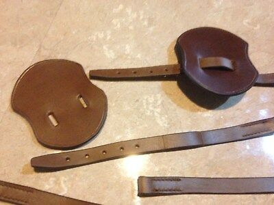 light horse spur Butterflys and straps, WWI, pattern, Leather, mounted troops