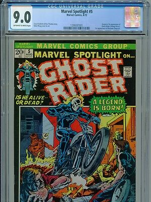 1975 Marvel Spotlight #5 1St Appearance Ghost Rider Cgc 9.0 Ow-White Pages