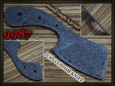 "6.5"" Custom made Rare Damascus hunting blank blade knife making suppliers 9987"