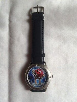 M&M's OFFICIAL CANDY OF THE MILLENNIUM LIMITED EDITION MEN'S WRISTWATCH 1998