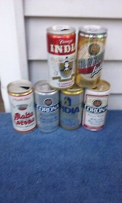 6 Diff 10 Onz Aluminum Beer  Beer Can Cans