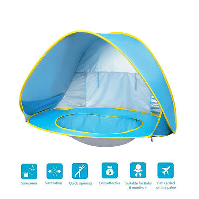 Pop Up Baby Beach Tent Infant Portable Cabana Shade Paddling Pool UV Protection