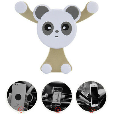 360° Universal Panda Car Air Vent Mount Gravity Holder Stand for Cell Phone GPS
