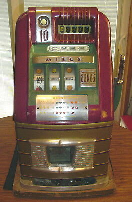 Mills Bonus 10 Cent Hi-Top Jackpot Slot Machine