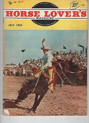 Horse Lovers Magazine July 1954 Reckless pride of the Marines