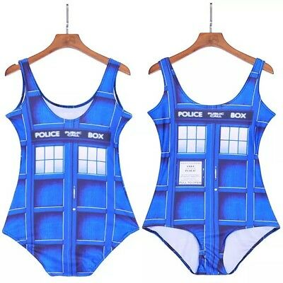 Blue Police Phone Box / Tardis Bodysuit Size Small New Without Tags Dr Who Style