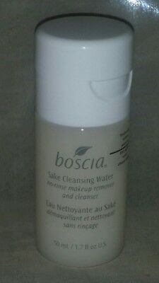 Boscia Sake Cleansing Water, No-Rinse Make Up Remover & Cleanser, 1.7Oz/50Ml