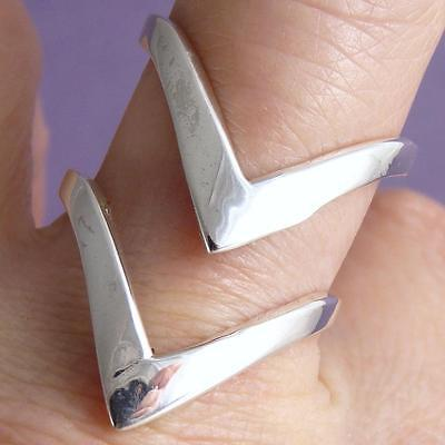 TWIN ARROW Size US 5-6 Adjust SilverSari Thumb/Finger Ring Solid 925 Stg Silver