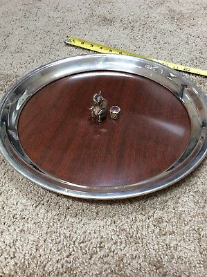 Vintage Barnum And Bailey Circus Silver Serving Platter Elephant