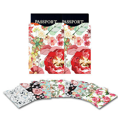 10pcs Protector Flower RFID Blocking ID/Credit Card & 2 Passport Holder Sleeves