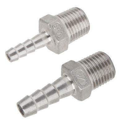 Male Thread Pipe Fitting x Barb Hose Tail Connector 1/4''x6mm + 1/4''x8mm
