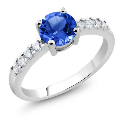 Stunning Ring With Round Blue Cubic Zirconia