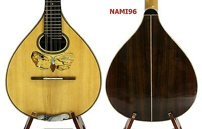 Small Arch Back Mandolin Solid Spruce Indian Rosewood free Hard Case NAMI96