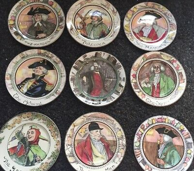 """Royal Doulton D3089 The Bookworm 10½"""" Plate - Stunning  + Full D Set All 9 Plate"""