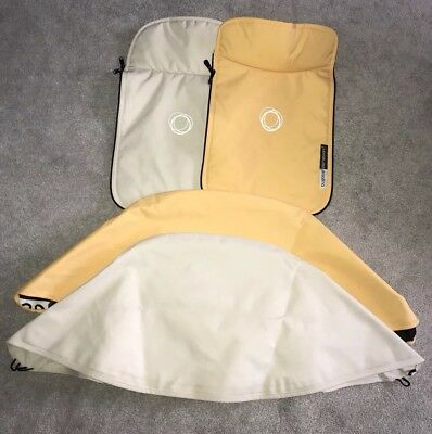 Bugaboo Cameleon 3 Fabric Sets-Hood & Apron. Cream & Limited Edition Yellow