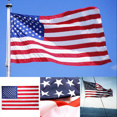 2'x3' American Flag USA US U.S.Embroidered Stars Sewn Stripes Brass Grommets