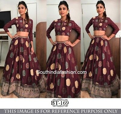 33f8e90316a8e Designer Bollywood Lehenga Choli Printed Indian Ethnic Shilpa Wedding BT169