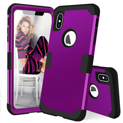 360° Full Protective Armor Case for iPhone XS Max/Xr /X Shockoroof Hybrid Cover