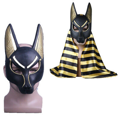 egyptian anubis mask halloween anubis wolf mask masquerade cosplay mask props