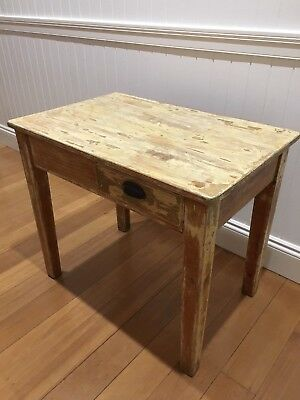Vintage. Shabby Chic. French Provincial. Farm House. Rustic. Pine Wood Desk.
