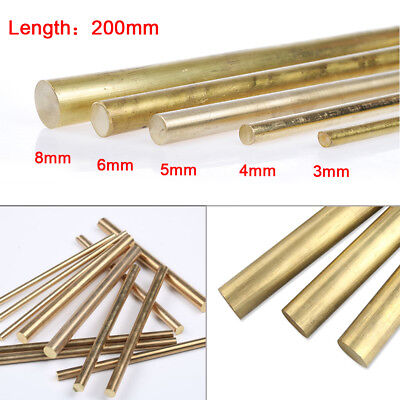 3/4/5/6/8mm Brass Rod Bar Handles Knife Making Rivets Pin Pins DIY Supplies