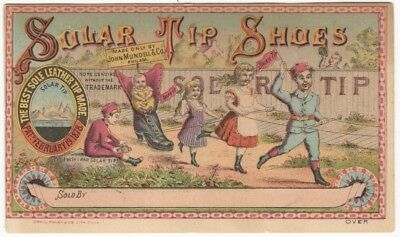Solar Tip Shoes Happy Children Parade Past Sad Kid Victorian Trade Card