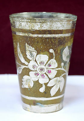 Authentic Vintage Old Indian Brass Lassi Cup/ Glass Excellent Decorative.G66-197