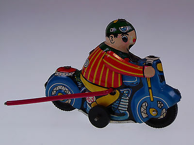 "GSMOTO NEW PENNY TOYS ""CLOWN MOTO"" CHINA 10cm, UHRWERK, ÜBERSCHLAG, NEU/NEW !"