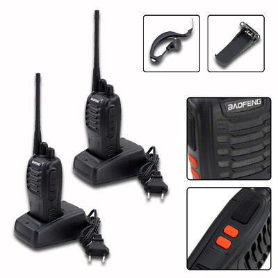 2X  Baofeng BF-888S + 2*Headset UHF CTCSS/CDCSS  Handfunkgerät Walkie-Talkie 5W