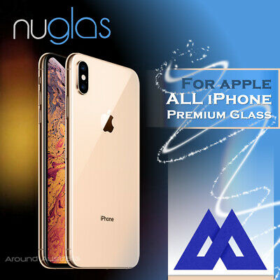 2x Genuine NUGLAS Tempered Glass Screen Protector Apple iPhone XS Max XS XR 8 7