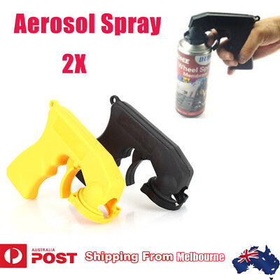 2x Car Auto Aerosol Spray Painting Can Gun Plastic Handle With Full Grip Trigger