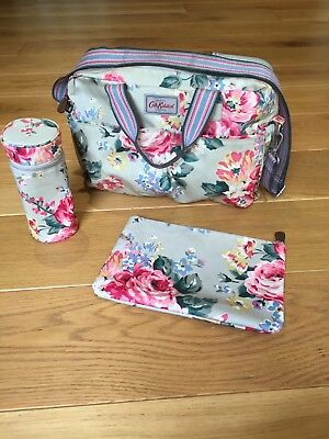 Cath Kidston Baby Changing bag with insulated bottle bag and changing mat