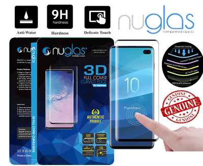 NUGLAS 3D Tempered Glass Screen Protector Samsung Galaxy S10+ S10 S9 Plus Note 9