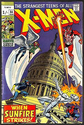 X-Men #64 1st App Sunfire VG-