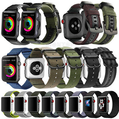 VARIOUS Nylon Band Replacement Wrist Strap Bracelet For Apple Watch Series 4