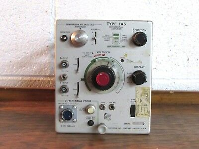 Vintage Tektronix 1A5 Differential Amplifier Plug-in
